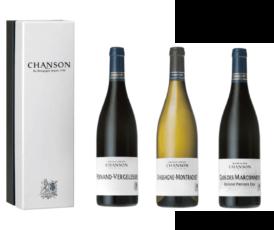 Geschenkset Chanson Beaune Clos Des Marconnets/Pernand Vergelesses/Chassagne Montrachet