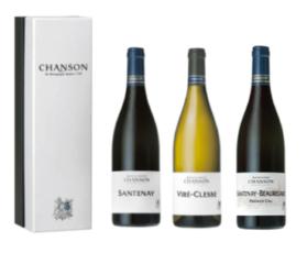 Geschenkset Chanson Santenay/Santenay Beauregard/Viré Clessé